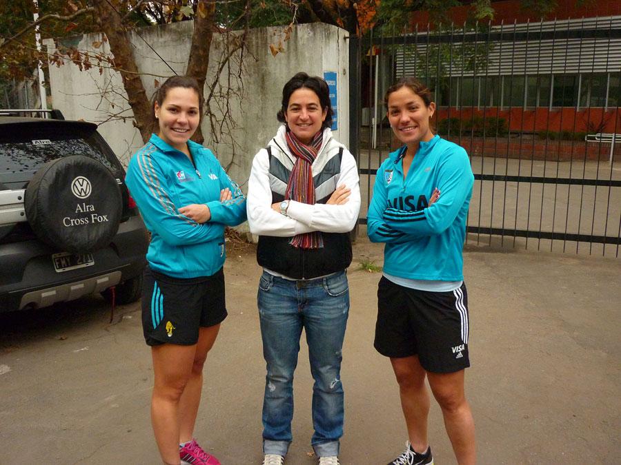 Noelia Barrionuevo, Alejandra Gulla y Sole Garcia